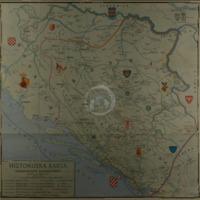 Historijska karta SREDNJEVJEKOVOVNE BOSANSKE DRŽAVE